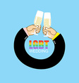 LGBT wedding Gay wedding Mens hands to drink vector image
