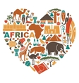 Love for Africa vector image