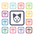puppy flat icons set vector image