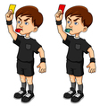 soccer referee vector image