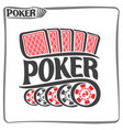 poster for poker gamble game vector image