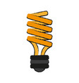 bulb cartoon draw vector image