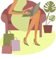 internet shopping vector image