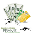 financial crack vector image vector image