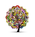 Mandala tree floral sketch for your design vector image vector image