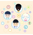 Children of different nationalities vector image