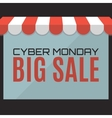 Cyber Monday sale background Web store concept vector image
