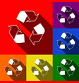 recycle logo concept set of icons with vector image