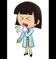 Sneezing woman vector image