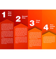 Step by step - progress diagram vector image