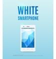 White smartphone poster design vector image