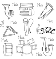 Doodle of Music hand draw vector image