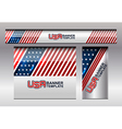 USA Flag Banner Template vector image