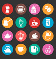 colorful coffee icons set vector image