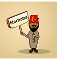 Hello from Turkey people vector image vector image