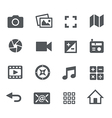 Media Icons - Apps Interface vector image