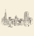 San Francisco big city architecture vintage vector image