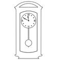 classic clock vector image vector image