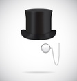 Black top hat isolated on white vector image