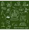 Back to School Doodles vector image vector image