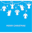 Merry Christmas Greeting Card - Angels vector image