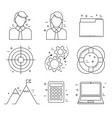 business icons thin line design in finance vector image