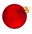 Christmas red ball on a white background vector image
