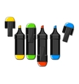 Color markers vector image