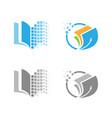 digital pixel logo education vector image