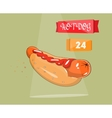 Hot dog Icon for fast food vector image