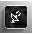 Radar icon satellite dish tv technology vector image