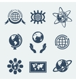 Set of symbols planet earth vector image