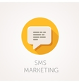 SMS marketing Icon Flat design style with long vector image