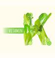 vitamin k letter vector image