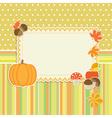 Autumn frame vector image vector image