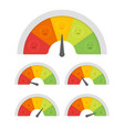 customer satisfaction meter with different vector image