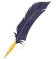Golden quill Pen vector image