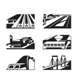 Various types of enormous buildings vector image vector image