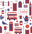 Seamless pattern with London style elements vector image