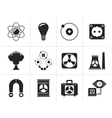 Silhouette Atomic and Nuclear Energy Icons vector image