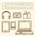 Set of electronic devices vector image