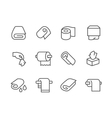 Lined Towels and Napkins Icons vector image