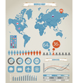 World Map Charts vector image