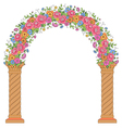 floral design arc vector image