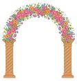 floral design arc vector image vector image