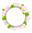 Apple Tree Flowers With Speech Bubble vector image