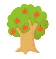 Apple tree icon cartoon style vector image