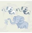 Baby elephant set vector image