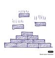 Brick pyramid vector image