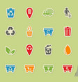 garbage icon set vector image